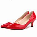 זול נעלי עקב לנשים-בגדי ריקוד נשים נעליים דמוי עור אביב / סתיו עקב סטילטו ורוד / עירום / בורדו / שמלה