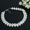 preiswerte Körperschmuck-Damen Perle Perlenbesetzt Halsketten - Perle Zierlich, Simple Style Handgemacht Farbbildschirm Modische Halsketten Schmuck Für