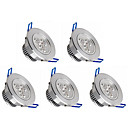 cheap LED Recessed Lights-5pcs 350lm LED Recessed Lights 3 LED Beads High Power LED Dimmable Warm White / Cold White