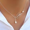ieftine Colier la Modă-Pentru femei Perle Coliere cu Pandativ - Perle Culoare ecran Coliere Pentru