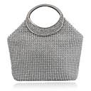 olcso Férfi csizmák-Női Táskák Poliészter Kéztáska / Patent / Estélyi táska Virág Egyszínű Ezüst