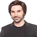 halpa Synteettiset peruukit ilmanmyssyä-Synteettiset peruukit Suora Synteettiset hiukset Ruskea Peruukki Miesten / Naisten Suojuksettomat