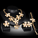 cheap Sports Support & Protective Gear-Pearl Jewelry Set - Cubic Zirconia Flower Statement, Party, Link / Chain Include Gold For Party Special Occasion Anniversary / Earrings / Necklace