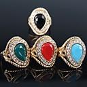 ieftine Inele la Modă-Pentru femei Inel de declarație - Placat Auriu Modă O Mărime Rosu / Verde / Albastru Pentru Petrecere