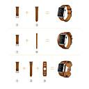 رخيصةأون الاكسسوارات ساعة ذكية-حزام إلى Apple Watch Series 3 / 2 / 1 Apple بكلة كلاسيكية جلد طبيعي شريط المعصم