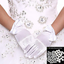 cheap Party Gloves-Spandex Wrist Length Glove Bridal Gloves Party / Evening Gloves With Bowknot