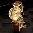 baratos Relógios de Pulseira-Mulheres Relógio de Moda Bracele Relógio Simulado Diamante Relógio Quartzo imitação de diamante PU Banda Analógico Brilhante Preta / Branco / Vermelho - Roxo Vermelho Dourado Um ano Ciclo de Vida da