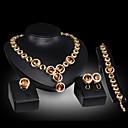 povoljno Komplet nakita-Ispustiti dame Zabava Alke / lanac Dragi kamen Kubični Zirconia Naušnice Jewelry Zlato / Crvena Za / Ogrlice