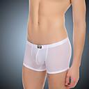 baratos Collants,Shorts,Calças e Calções de Ciclismo-Homens Seda Sintética Super Sexy Boxer Curto Sólido 1 Peça
