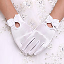 cheap Party Gloves-Spandex Wrist Length Glove Bridal Gloves / Party / Evening Gloves With Bowknot / Pearl