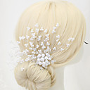 cheap Party Headpieces-Crystal Imitation Pearl Alloy Hair Combs 1 Wedding Special Occasion Headpiece