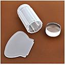 billige Rhinsten&Dekorationer-1 pcs Negle Smykker Stempling plade Negle kunst Manicure Pedicure Daglig Abstrakt / Mode / Plast / Stempling Plate / Negle smykker