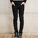 זול טבעות לגברים-בגדי ריקוד גברים כותנה ישר / ג'ינסים מכנסיים אחיד