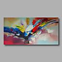 voordelige Abstracte schilderijen-Hang-geschilderd olieverfschilderij Handgeschilderde - Abstract Modern Kangas