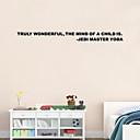 halpa Seinätarrat-Asetelma Sarjakuva Words & Quotes Wall Tarrat Lentokone-seinätarrat Koriste-seinätarrat, PVC Kodinsisustus Seinätarra