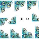 preiswerte Nageltrockner & Lampe-1 pcs 3D Nails Nagelaufkleber Nail Schmuck Nagel Kunst Maniküre Pediküre Punk / Modisch Alltag / PVC / Nagelschmuck / 3D Nagel Sticker