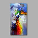 povoljno Slike sa životinjskim motivima-Hang oslikana uljanim bojama Ručno oslikana - Sažetak Moderna Uključi Unutarnji okvir / Valjani platno / Prošireni platno