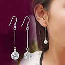 cheap Men's Earrings-Crystal Synthetic Diamond Tassel Disco Ball Drop Earrings - Sterling Silver, Crystal, Imitation Diamond Luxury, Classic, Fashion Silver For Wedding Party Daily