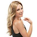 abordables Pelucas Sintéticas de Malla-Pelucas sintéticas Ondulado Ombre Pelo sintético Ombre Peluca Mujer Larga Sin Tapa Rubia