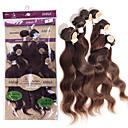 billige Hairextension med naturlig farge-Brasiliansk hår Krop Bølge 8A Menneskehår Vevet Hårvever med menneskehår Hairextensions med menneskehår