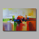 olcso Portrék-Hang festett olajfestmény Kézzel festett - Absztrakt Modern Vászon