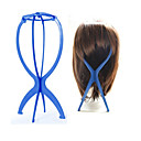 cheap Tools & Accessories-Wig Display Stand Mannequin Dummy Head Hat Cap Hair Holder Folding Stable Tool (blue)