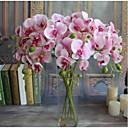 hesapli Yorgan Kılıfları-5 adet gerçek dokunmatik yapay çiçekler orkide ev dekor düğün hediyesi