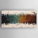 cheap POP Oil Paintings-Oil Painting Hand Painted - Abstract Modern Canvas