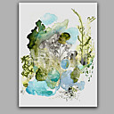 baratos Pinturas Abstratas-Pintura a Óleo Pintados à mão - Abstrato Estilo Com Moldura / Lona esticada