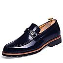 ieftine Saboți și Mocasini Bărbați-Bărbați Pantofi formali Imitație Piele Primăvară / Toamnă Confortabili Oxfords Anti-Alunecare Maro / Rosu / Albastru / Nuntă / Pantofi rochie
