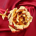 baratos Flor artificiali-24 k banhado a ouro rosa flor criativo artificial rose valentine's day presente de aniversário romântico rosa de ouro decoração do partido