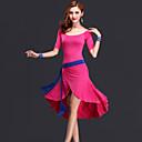 hesapli USB-Göbek Dansı Elbiseler Kadın's Performans Suni İpek Drape Elbise / Kemer / Şort