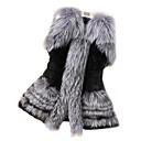 preiswerte Hochzeitsgeschenke-Damen - Solide Ausgehen Mantel Kunst-Pelz Klassisch