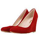 olcso Női magassarkú cipők-Női Cipő Szövet Tavasz / Ősz Ék sarkú Kék / Meztelen / Tengerészkék / Party és Estélyi / Ruha / Party és Estélyi