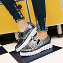 cheap Women's Oxfords-Women's Shoes Leatherette Low Heel Platform / Round Toe Fashion Sneakers Outdoor / Athletic / Casual White / Silver