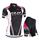 cheap Cycling Gloves-Nuckily Women's Short Sleeve Cycling Jersey with Shorts - Black Bike Shorts / Jersey / Padded Shorts / Chamois, Waterproof, Ultraviolet Resistant, Breathable Polyester / Stretchy / SBS Zipper