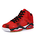cheap Men's Athletic Shoes-Men's Shoes Faux Leather Fall / Winter Comfort Athletic Shoes Basketball Shoes Black / Red / Blue