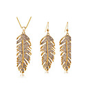 cheap Jewelry Sets-Women's Crystal Jewelry Set - Crystal Include Silver / Golden For Wedding / Party / Daily / Earrings / Necklace