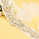ieftine Panglici de Nuntă-Satin Nuntă Party / Seara Cercevea With Piatră Semiprețioasă Imitație de Perle Pentru femei Panglici