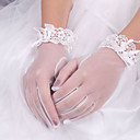 preiswerte Handschuhe für die Party-Elastischer Satin / Baumwolle / Seide Handgelenk-Länge Handschuh Charme / Stilvoll / Brauthandschuhe Mit Stickerei / Einfarbig