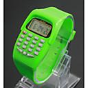 billige Trendy klokker-Barne damer Moteklokke Digital Watch Japansk Quartz Digital 30 m LCD Plast Band Digital Sjarm Svart / Blå / Rød - Lilla Grønn Blå Ett år Batteri Levetid