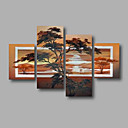 hesapli İnsan Resimleri-Hang-Boyalı Yağlıboya Resim El-Boyalı - Çiçek / Botanik Modern Tuval