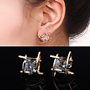 cheap Earrings-Women's Cubic Zirconia Stud Earrings - Zircon, Cubic Zirconia, Rhinestone Silver / Golden For Wedding Party Daily