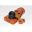 billige Etuier, vesker og stropper-dengpin® PU lær kameraveske bag dekke med skulderstropp for Canon EOS m10 15-45 objektivet (assorterte farger)