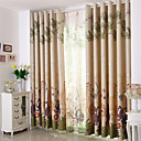 cheap Sheer Curtains-Two Panels Animal Blackout Printing Four Color Curtain