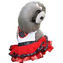 זול בגדים לכלבים-כלב שמלות בגדים לכלבים מנוקד סגול אדום כותנה תחפושות עבור חיות מחמד קיץ בגדי ריקוד נשים אופנתי