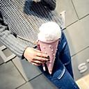 cheap Crossbody Bags-Women's Bags PU(Polyurethane) Cosmetic Bag / Crossbody Bag Fur Plaid Pink / Light Blue / Fall & Winter