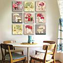 preiswerte Hohler Nagelaufkleber-Botanisch Ein Panel Quadratisch Druck Wand Dekoration Haus Dekoration