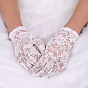 cheap Party Gloves-Lace / Elastic Satin / Polyester Wrist Length Glove Classical / Bridal Gloves With Solid