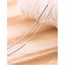 billige Mote Halskjede-- Sølv Fest Søtt Hvit, Sølv Halskjeder Smykker Til